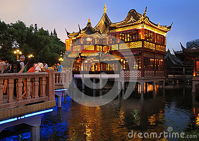 Chinese Garden,Shanghai Yuyuan Editorial Stock Photo