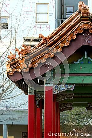 Free Chinese Gate In Chinatown Stock Photo - 81210