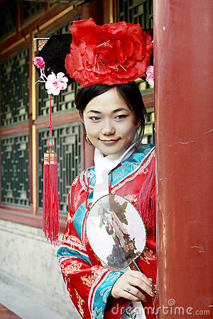 Chinese girl in ancient dress