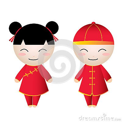 Chinese Girl-Boy Greetings