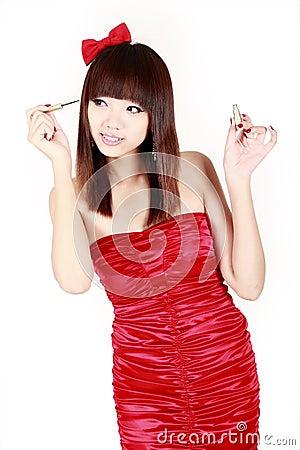 Chinese girl make-up