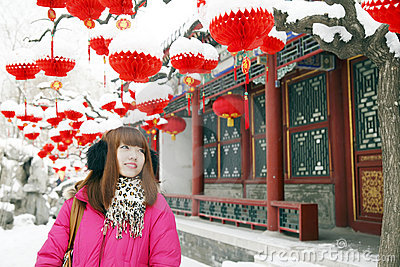 Chinese girl in New Year