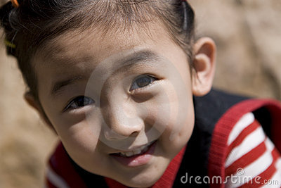 Chinese girl with smile