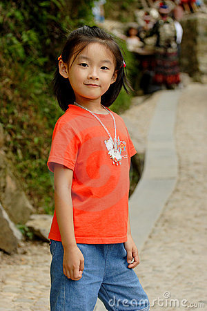 chinese girl smile