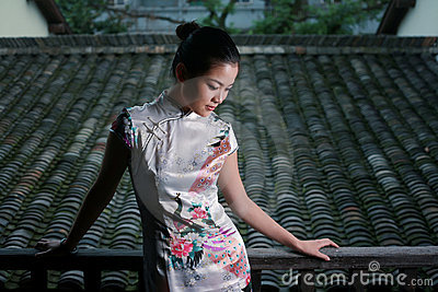 Chinese girl in  tradition dress