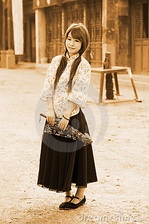 Chinese girl in traditional dress