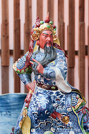 Chinese god made of porcelain