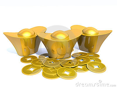 Chinese gold 3D