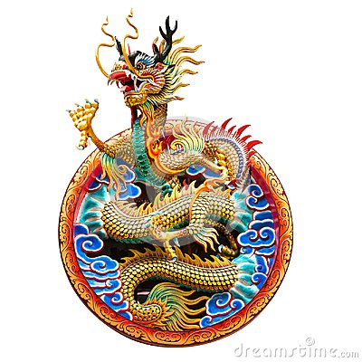 Free Chinese Golden Dragon Royalty Free Stock Images - 105111339