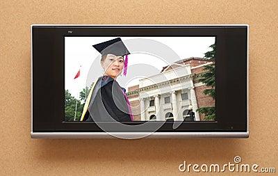 Chinese graduation on TV