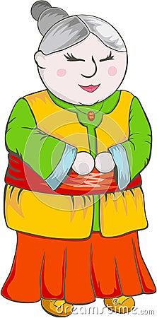 Chinese Grandmother Cartoon