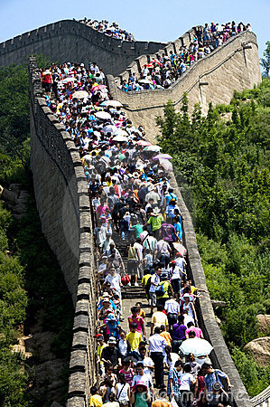 Chinese great-wall Editorial Photography