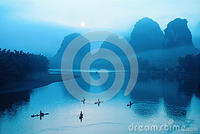 Chinese guilin scenery
