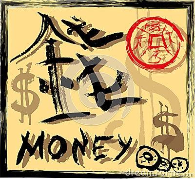 Chinese hieroglyph money