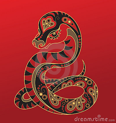 Free Chinese Horoscope. Year Of The Snake Stock Photo - 21483400