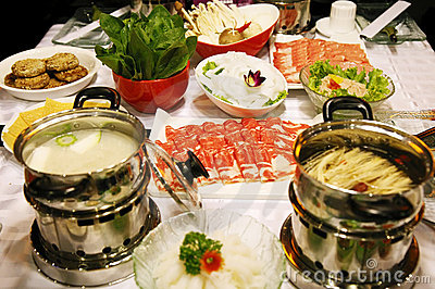 Chinese hot pot feast