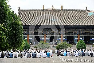 Chinese hui people worship Editorial Stock Image