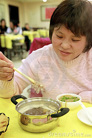 Chinese instant boiled mutton