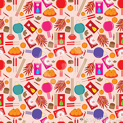 Chinese Items Seamless Pattern_eps