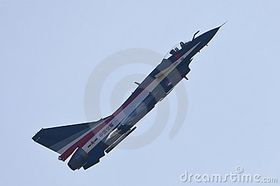 Chinese J-10 fighter Editorial Stock Photo