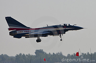 Chinese J-10 fighter Editorial Stock Image