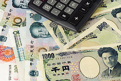 Chinese and Japanese currency pair