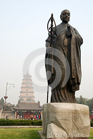 Chinese jianzhen monk sculpture Editorial Photo