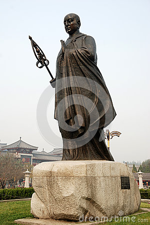 Chinese jianzhen monk sculpture Editorial Stock Image