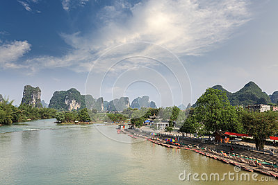 Chinese karst mountain landscape in yangshuo