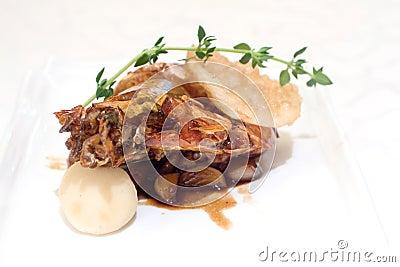 Chinese King prawn on stir fried shallots