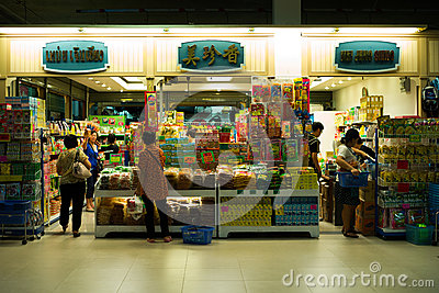 Chinese and Korean products shop at Asiatique, the riverfront, the ...