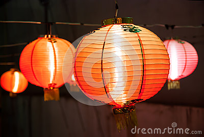 Chinese lanterns during the night