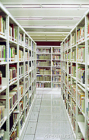 Chinese Library Aisle