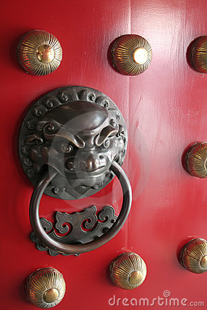Chinese Lion Protector Door Knocker found in China