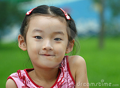 chinese little child smile