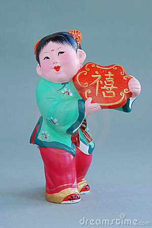 Chinese lucky clay figurine_lucky