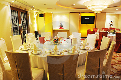 Chinese luxury restaurant banquet