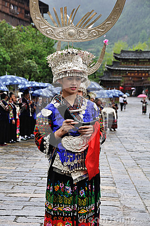 The chinese miao lady Editorial Stock Image