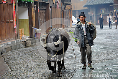 Chinese Miao nationality farmer Editorial Stock Image