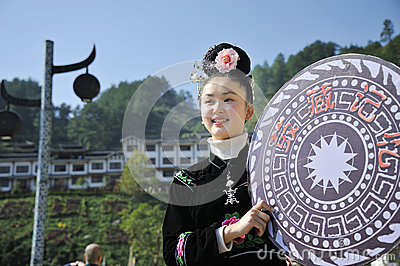 Chinese Miao nationality girl Editorial Image