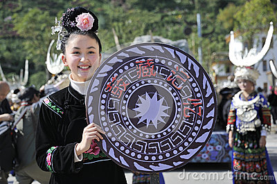 Chinese Miao nationality girl Editorial Photography