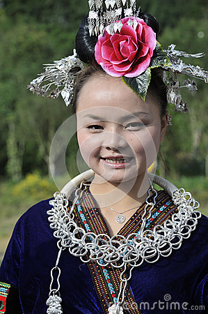 Chinese Miao nationality woman Editorial Stock Image