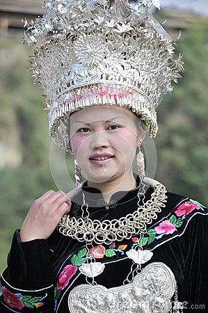 Chinese Miao nationality woman Editorial Photo