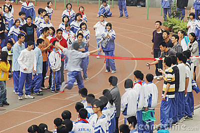 Chinese middle school running game