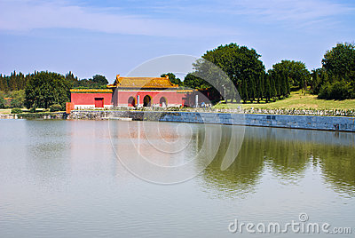 Chinese Ming Dynasty imperial tombs in zhongxiang