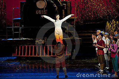 Chinese modern dance drama Editorial Photo