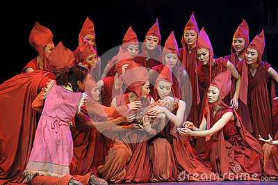 Chinese Modern Dance Drama Editorial Stock Image