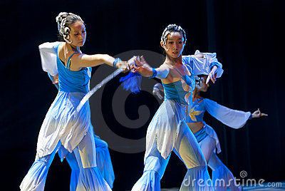 Chinese modern dancers Editorial Stock Photo
