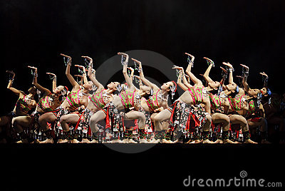 Chinese modern dancers Editorial Stock Image
