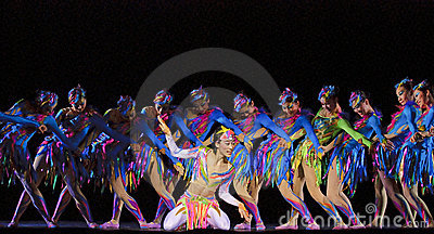 Chinese modern dancers Editorial Image